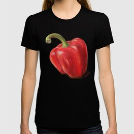 Red Paprika on Yellow T-shirt
