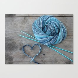 Blue spun love Canvas Print