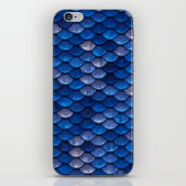 Blue Penny Scales iPhone Skin