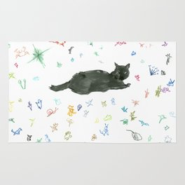 cat and toy Rug