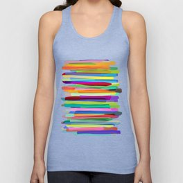 Colorful Stripes 1 Unisex Tank Top