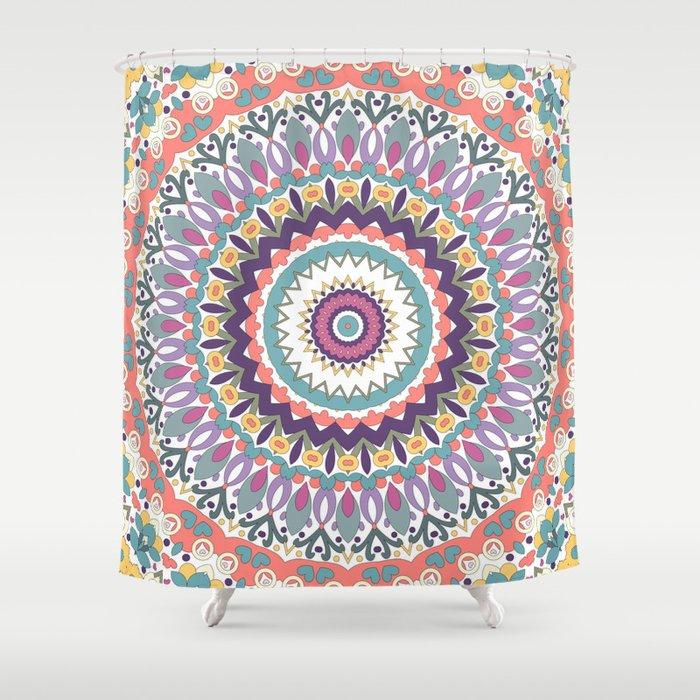 Bloom Mandala Shower Curtain