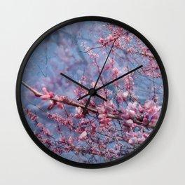 Redbud Blooms Wall Clock