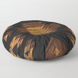 Urban Tribal Pattern No.7 - Aztec - Wood Floor Pillow