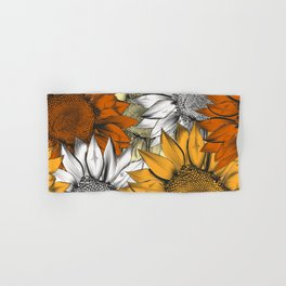 Beautiful pattern from hand drawn sunflowers Hand & Bath Towel