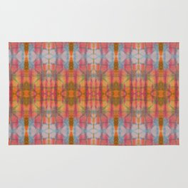 Muticolored Shibori Tie Dye Rug