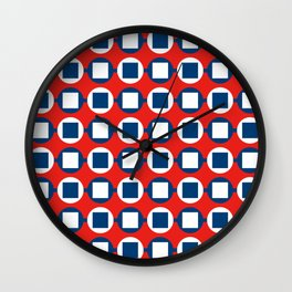Bead Pattern - Red White & Blue Wall Clock