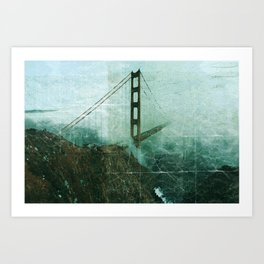 Old Bridge Postcard Art Print
