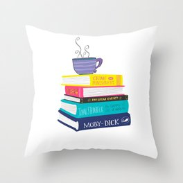 Lover of books Throw Pillow
