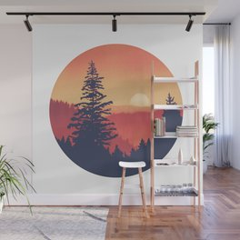 Pine Mountains Wall Mural