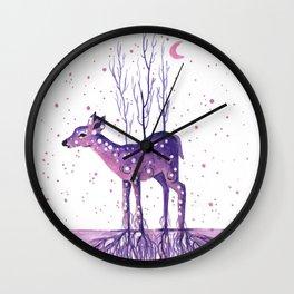 Rooted Deer Wall Clock