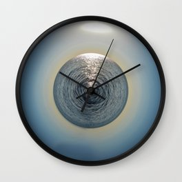 Water Sunrise Planet Wall Clock