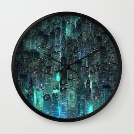 Green city Wall Clock