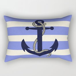 Old Vintage Anchor with Rope Rectangular Pillow