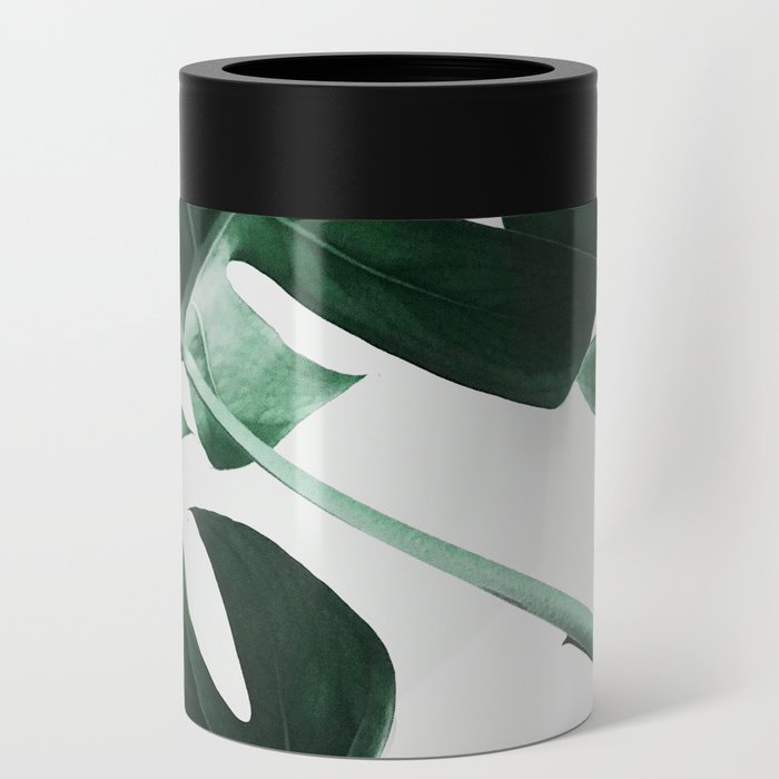 Monstera, Leaves, Plant, Green, Scandinavian, Minimal, Modern, Wall art Can Cooler