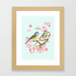 Spring Blossoms (mint) Framed Art Print