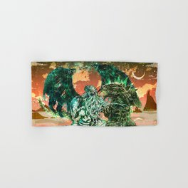 Cthulhu vs Godzilla Hand & Bath Towel