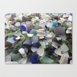 Sea Glass Assortment 5 Canvas Print