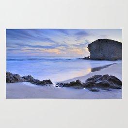 Monsul beach at sunset Rug
