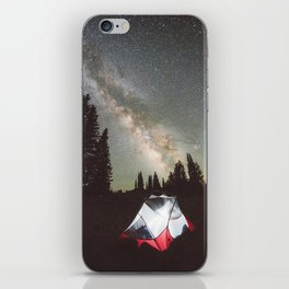 Camping Under the Milky Way iPhone Skin