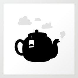 Cloudy pot Art Print