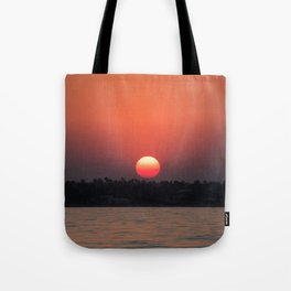 Really red sun Tote Bag