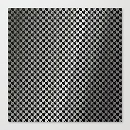 Black and Silver Gray Ghost Checkerboard Weimaraner Canvas Print
