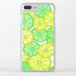 Lemons and Limes Clear iPhone Case