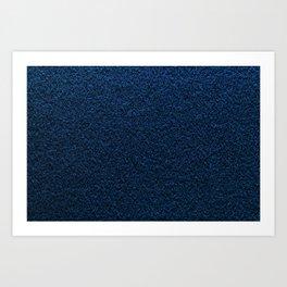 Dark Blue Fleecy Material Texture Art Print