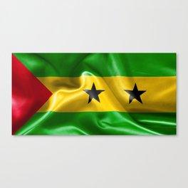 Sao Tome and Principe Flag Canvas Print