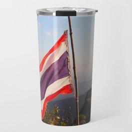 Thai flag on Mountain Travel Mug