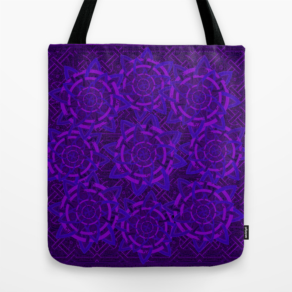 Celtic Tones In Purple Tote Bag by Anipani TBG8743974