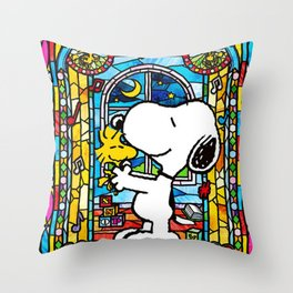 Snoopy art Throw Pillow
