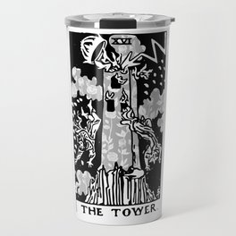 The Tower - A Floral Tower Print Travel Mug