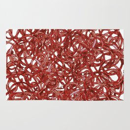 POP ART- RED CABLE Rug