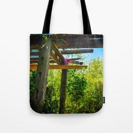 Wooden Walkthrough  Tote Bag