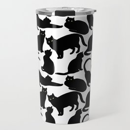 Black Cats Travel Mug
