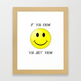know face Framed Art Print