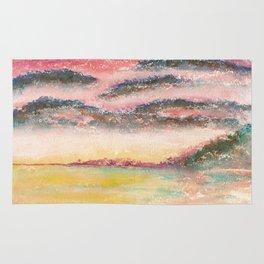 Ethereal Landscape Watercolor Illustration Rug