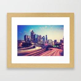 Atlanta Downtown Framed Art Print