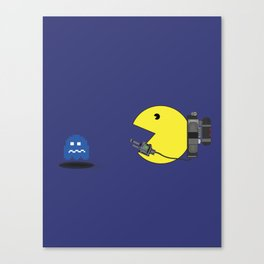 Pacman ghost buster Canvas Print