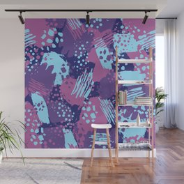Modern brush blots Wall Mural