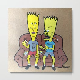 bevies and barthead Metal Print