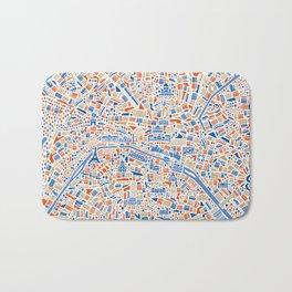 Paris City Map Poster Bath Mat