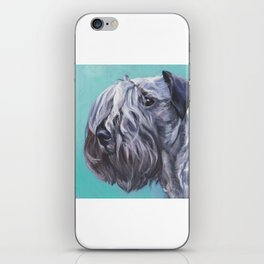 The Cesky Terrier dog portrait from an original painting by L.A.Shepard iPhone Skin