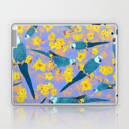 Spix Macaw Flower Power Laptop & iPad Skin