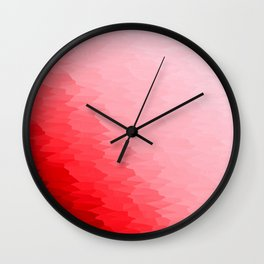 Red Texture Ombre Wall Clock
