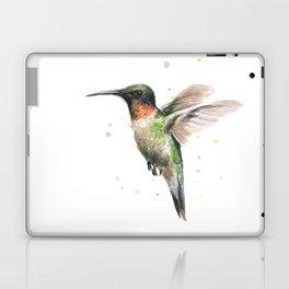 Hummingbird Watercolor Bird Animal Ruby Throated Laptop & iPad Skin