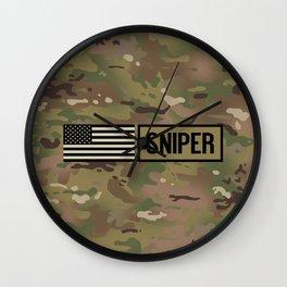 Military: Sniper (Camo) Wall Clock