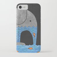 fish iPhone & iPod Cases featuring Thirsty Elephant  by Terry Fan